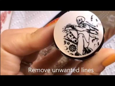 How to make stamping decals & How to line up images across your nails