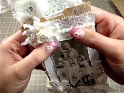 How to - Tutorial Paper Bag Tags - Vintage.Shabby Chic