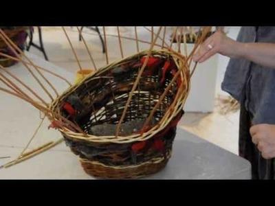 Jane Wilkinson Teaches Basket Making Newburgh North Fife.wmv