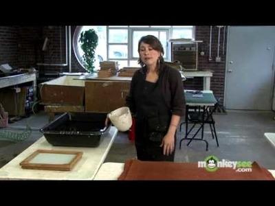 Make Paper - Preparing the Vat with Pulp