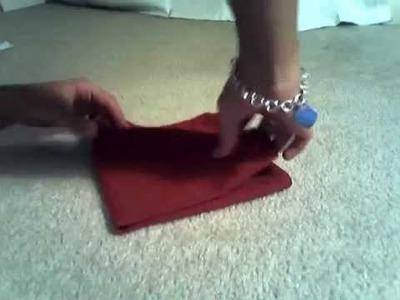 Napkin Folding: Lotus & Chopstick Techniques
