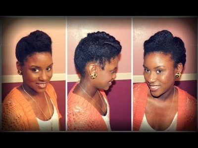 Natural Hair | Twisted Roll, Tuck and Pin Tutorial