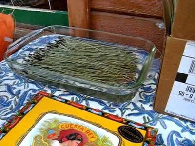 Pine Needle Basket Making 1