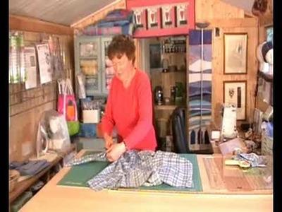 Preparing Shirts for Quilt Making 1