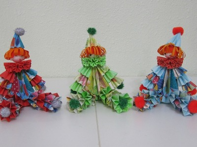 TUTORIAL - How to make 3D Paper Doll (Sitting Clown)