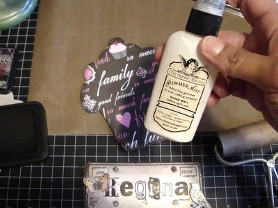 Tutorial on adhering paper to chipboard