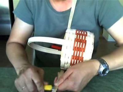 Basket Weaving Video #17 Tapering the Rim