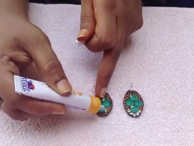 How to do earrings with embroidery cloth