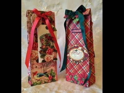How to make a paper bag . G45 The Twelve day`s of Christmas tutorial