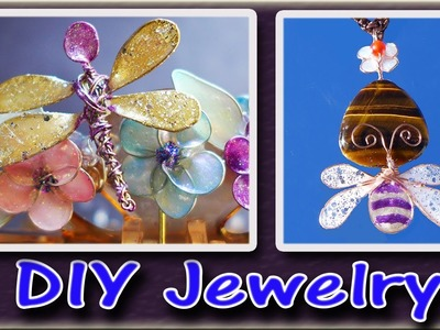 How To Make Easy Jewelry With Nail Polish, Glue and Wire