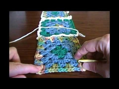 Joining Squares: Part 1: Five-Chain flat braid, Continuous Join Method