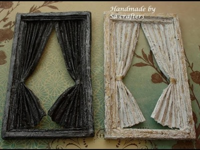 Shabby chic window with curtain tutorial part 2