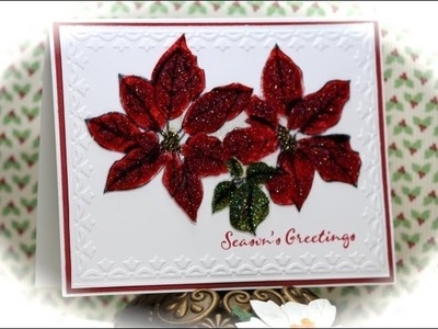 Tutorial Stained Glass Poinsettia Christmas Card -  Christmas Card #2