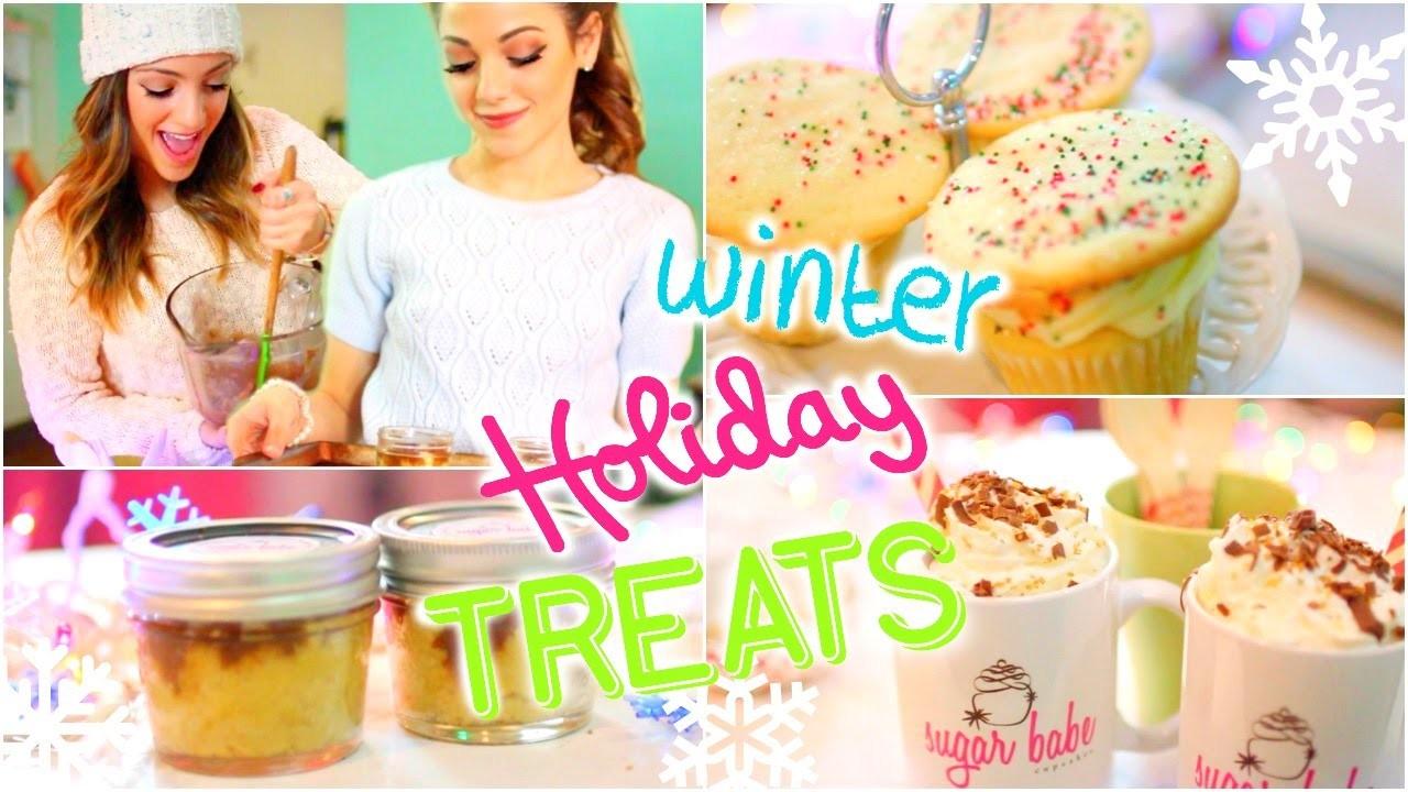 Easy + Delicious DIY Winter.Holiday treats with Niki and Gabi!