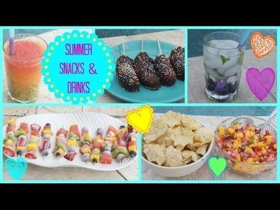 ☼ Healthy & Refreshing Summer Snacks & Drinks! ☼ | Jessica Reid