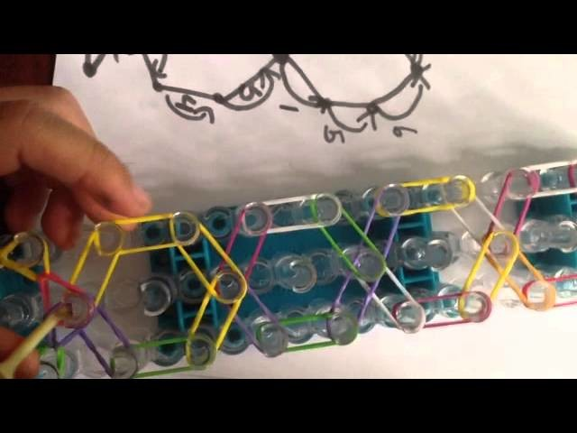 How To Make the Honey comb bracelet on the rainbow loom!