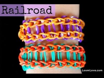 How to Make the Railroad Rainbow Loom Bracelet - EASY