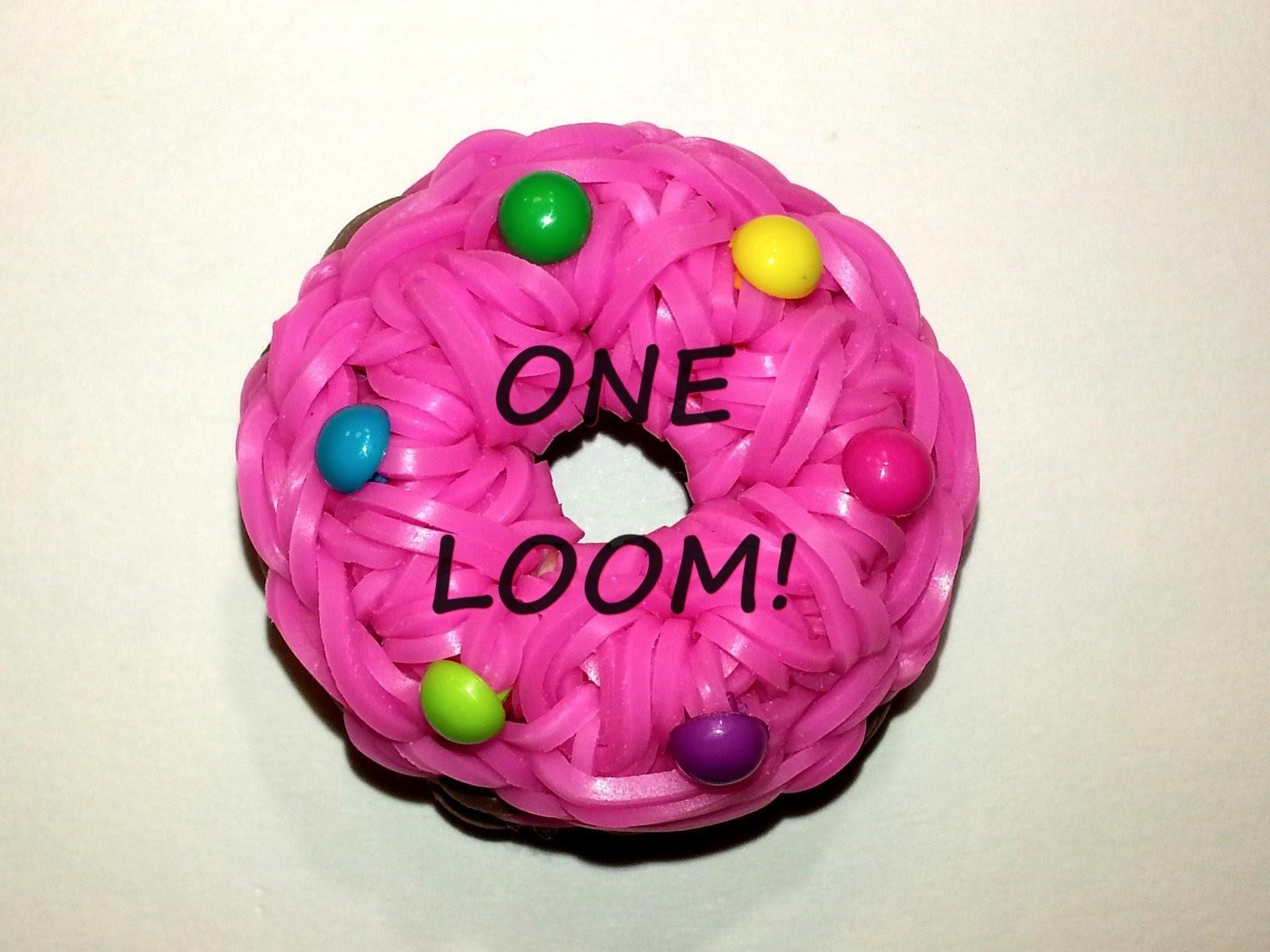 ONE LOOM 3-D Doughnut (Cookie) Charm Tutorial by feelinspiffy (Rainbow Loom)
