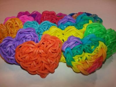 ONE LOOM Lovely Heart Charm Tutorial by feelinspiffy (Rainbow Loom)