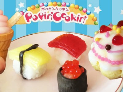Popin Cookin Icecream, Sushi, Cake Kracie #3 #5 #2 HOW TO COOK THAT