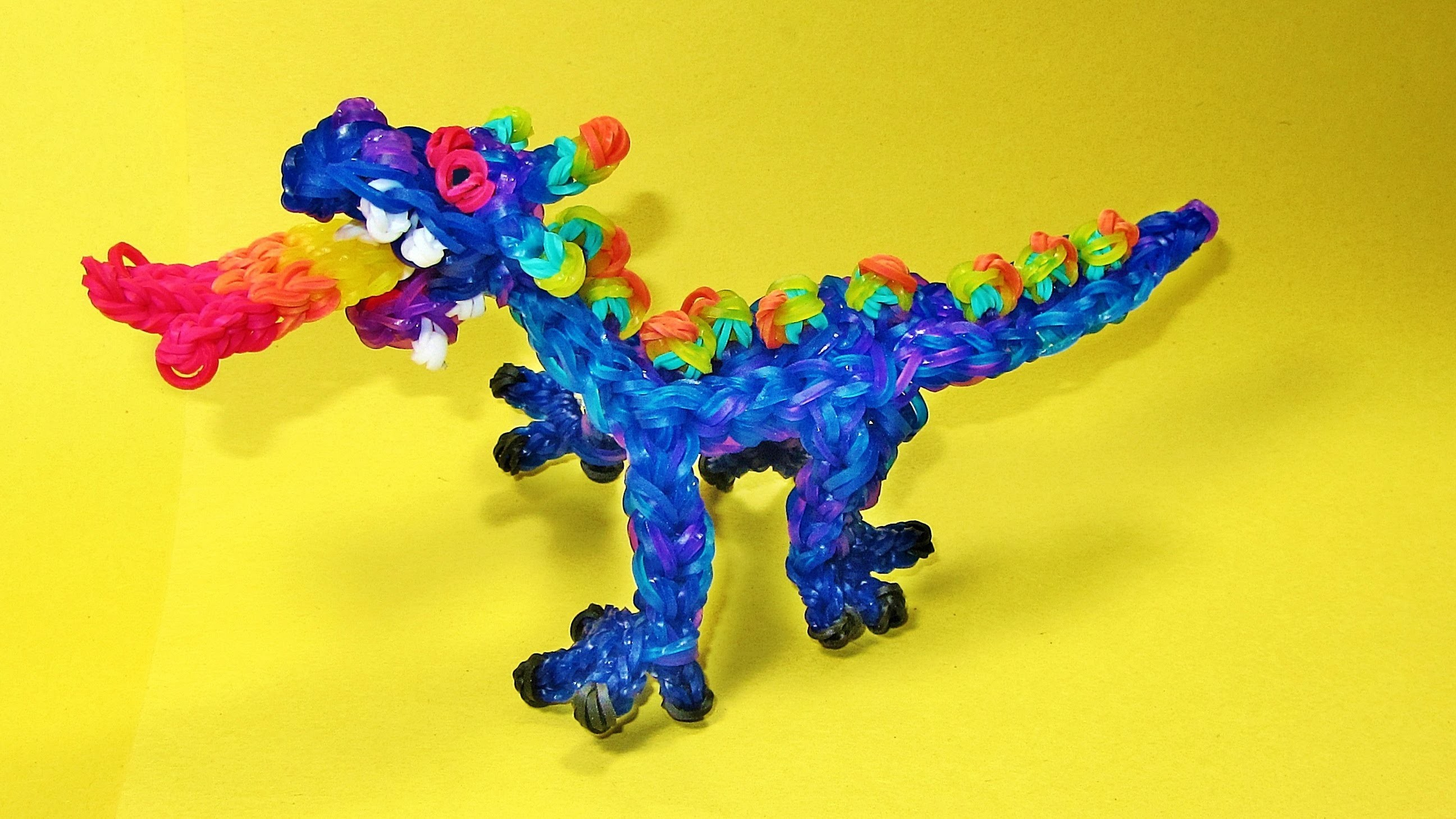 Rainbow Loom DRAGON Charm (Fire Breathing) - DIY Mommy