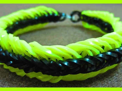 Super 6 Six Link Fishtail Rainbow Loom Bracelet without Loom