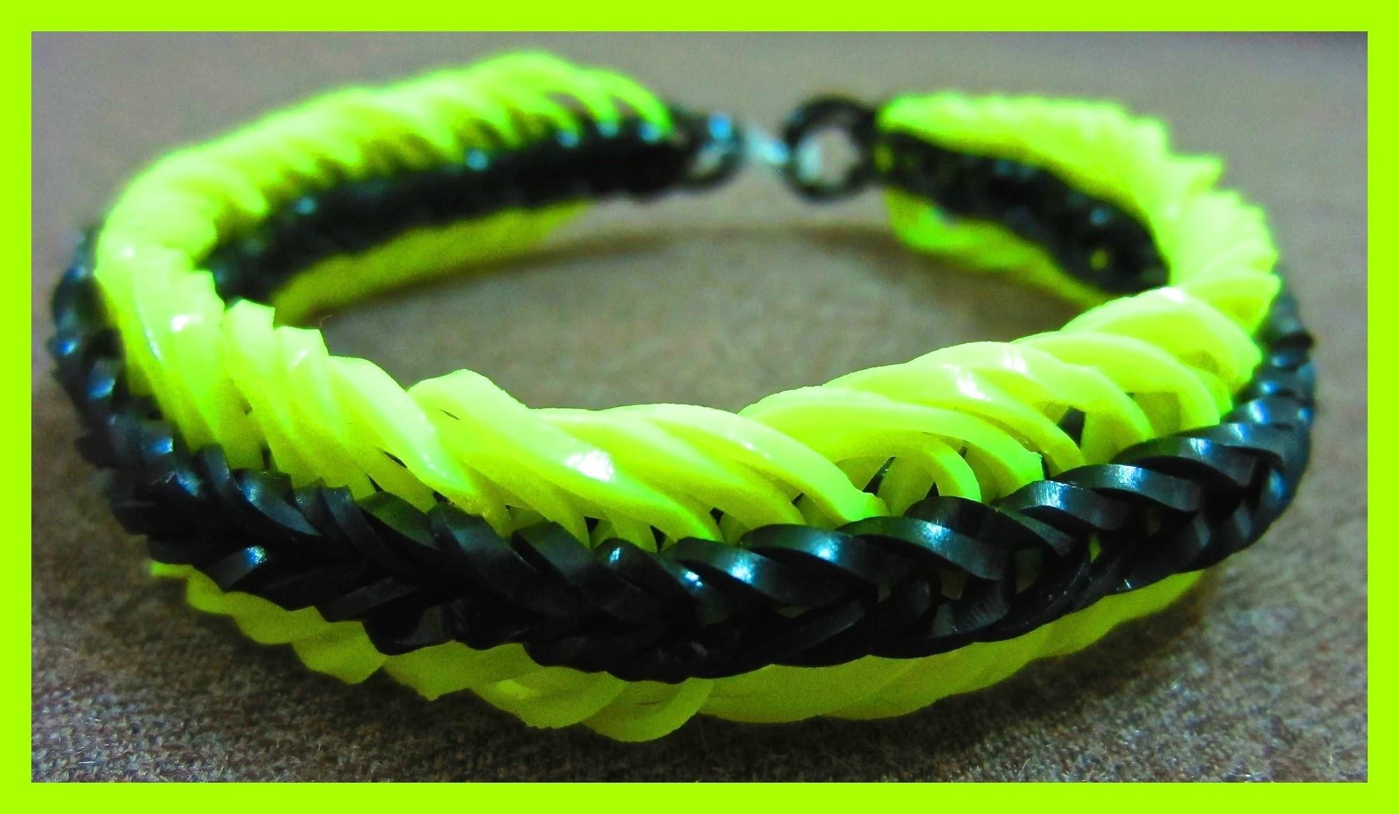 Super 6 Six Link Fishtail Rainbow Loom Bracelet without Loom