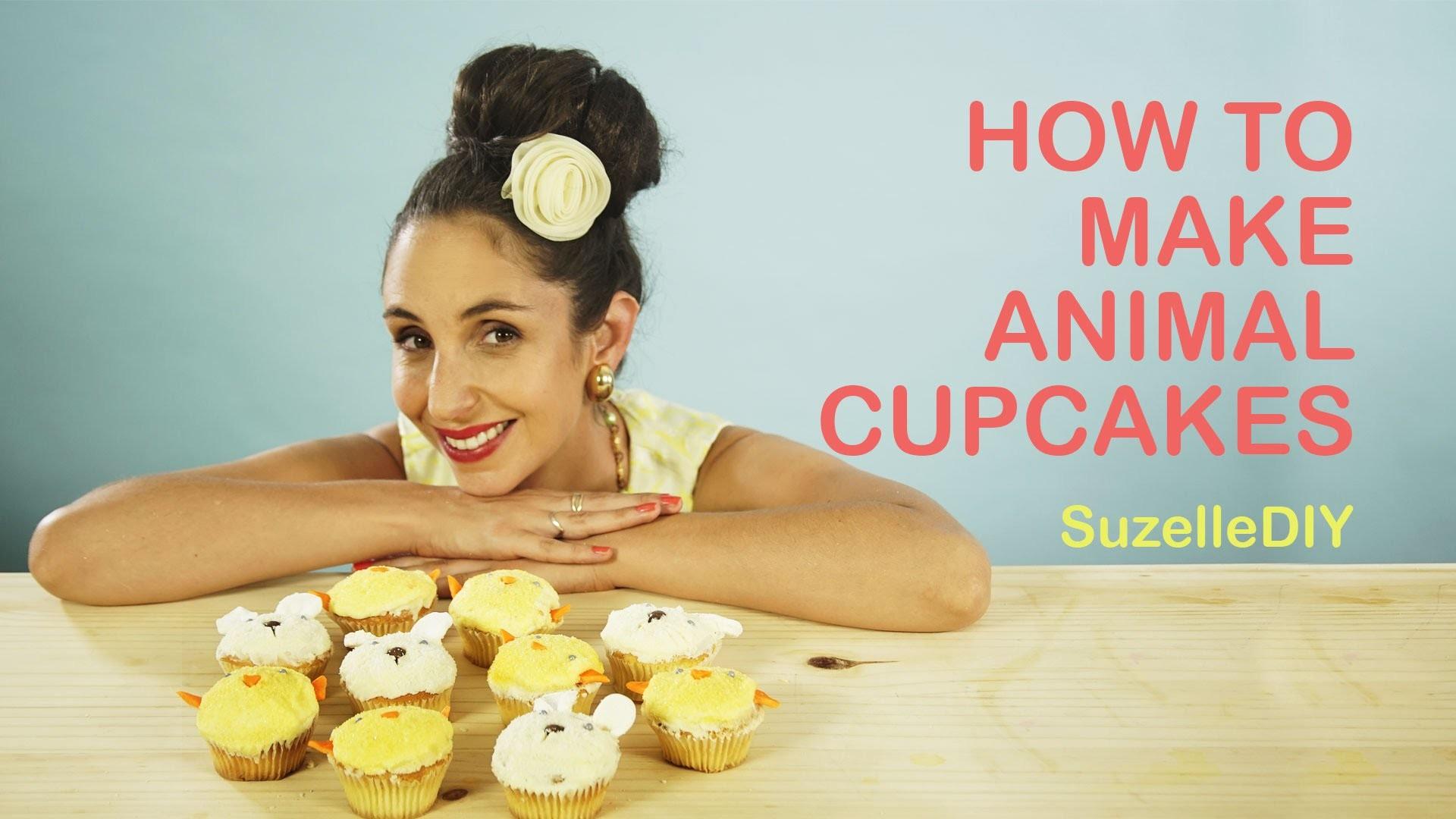 SuzelleDIY - How to Make Animal Cupcakes