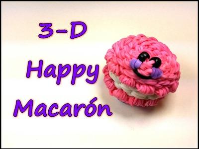 3-D Happy Macaron Tutorial by feelinspiffy (Rainbow Loom)