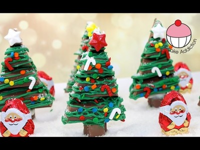 Chocolate Christmas KitKat Forest - No Bake Xmas Dessert with Cupcake Addiction