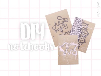 ♡DIY Tumblr Notebooks For Back To School! | Floral Princess♡