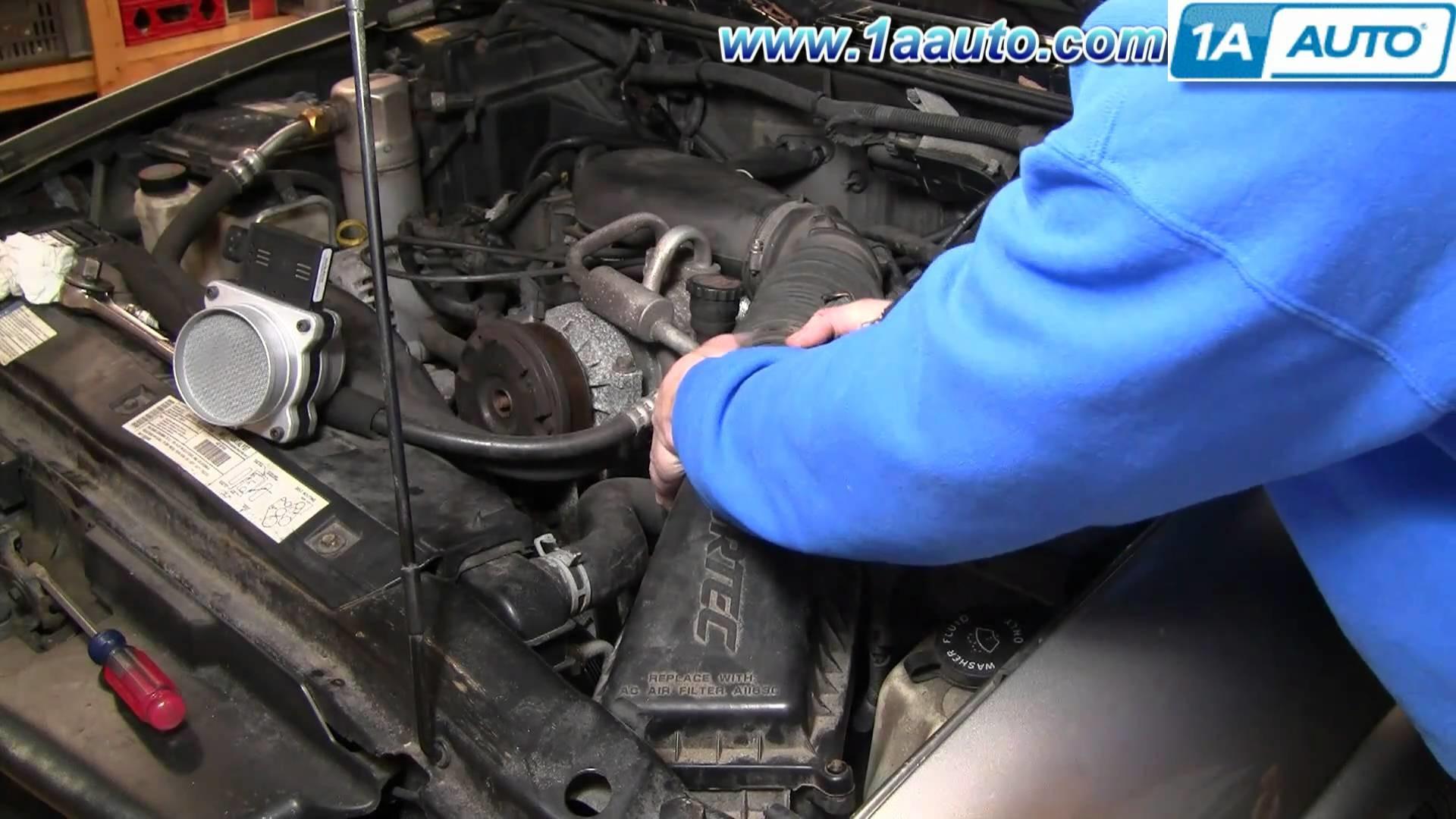 How To Install Replace Mass Air Flow Sensor Meter S10 Blazer Pickup Jimmy 4.3L 96-05 1AAuto.com