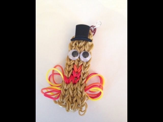 How to Make a Thanksgiving Turkey bracelet - rainbow loom