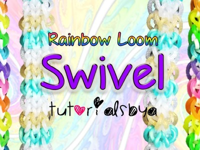NEW REVERSIBLE Swivel Rainbow Loom Bracelet Tutorial | How To