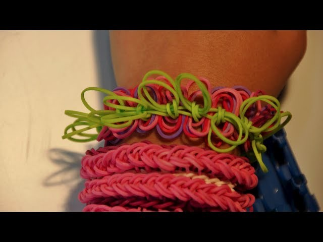 New Style!  How to make a Hula Hoop rubber band bracelet on a Cra-Z-Loom