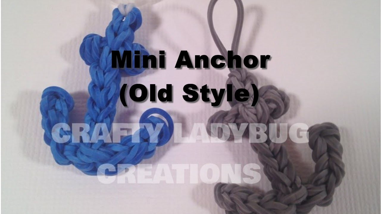 Rainbow Loom Bands ANCHOR CHARM How to Make Tutorial by Crafty Ladybug