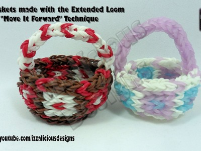 "Rainbow Loom Basket Using Extended Loom ""Move It Forward"" Technique"