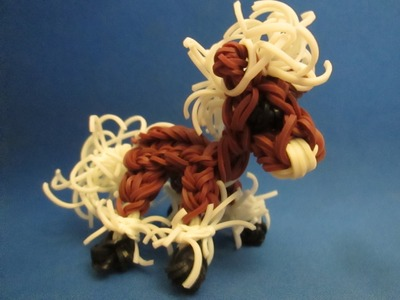 Rainbow Loom Horse and Pony: Baby Clydesdale Charm.