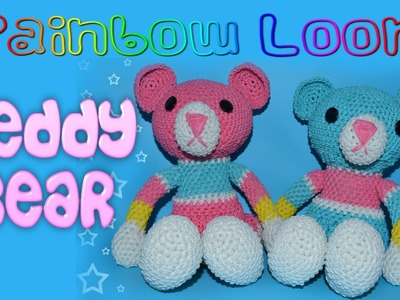 Rainbow Loom Stuffed Teddy Bear - Part 5.5 Torso, Joining Body Parts Together