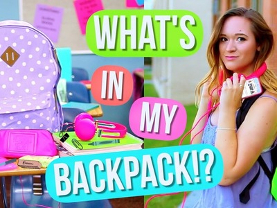 What's In My Backpack?! + DIY Backpack! Alisha Marie