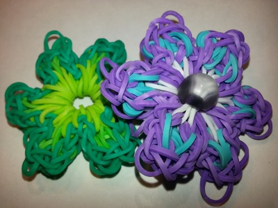 Anemone Flower Charm Tutorial by feelinspiffy (Rainbow Loom)