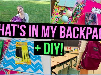 Back to School: What's in my Backpack + DIY Backpack! & GIVEAWAY!!