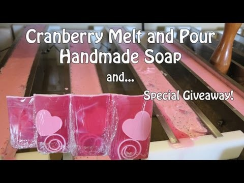 Cranberry Melt and Pour Handmade Soap