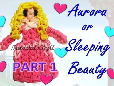{Disney Princess Series} PART 1 Aurora. Sleeping Beauty Figurine Rainbow Loom Tutorial