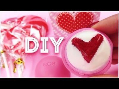 DIY tinted EOS lip balm in HEART Design! EASY!!