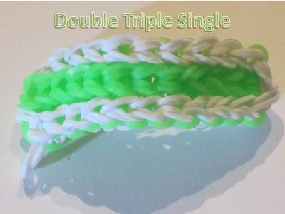 """Double Triple Single"" Rainbow Loom Bracelet"