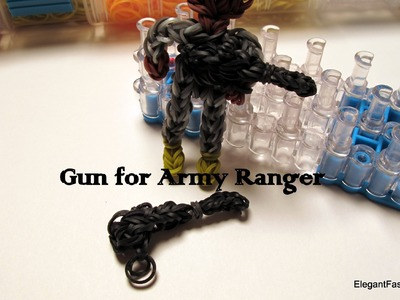 Gun Charm for Army Action Figure - How to - Rainbow Loom