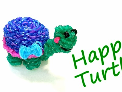 Happy Turtle (Tortoise) Tutorial by feelinspiffy (Rainbow Loom)