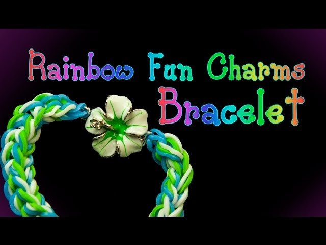 How to attach charms to Rainbow Loom Bracelets