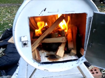 How to build a Portable wood stove. camping stove.